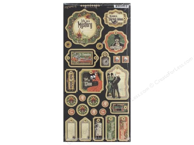 Graphic 45 Collection Master Detective Chipboard