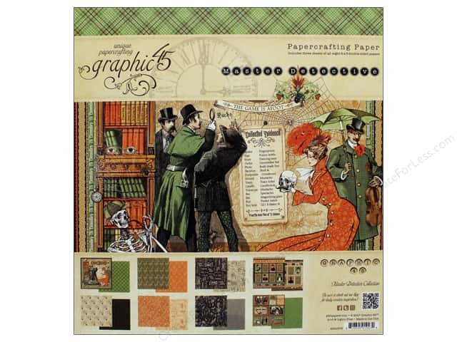 """Graphic 45 Collection Master Detective Paper Pad 8""""x 8"""""""
