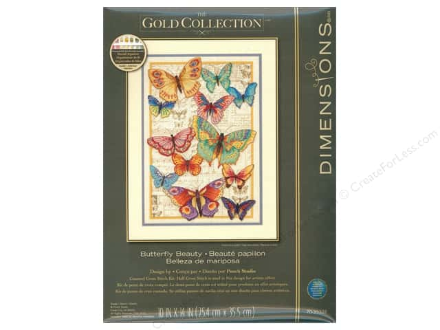 "Dimensions Cross Stitch Kit 10""x 14"" Butterfly Beauty"