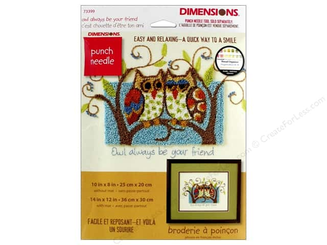 Dimensions Punch Needle Kit 10 in. x 8 in. Owl Always Be Your Friend