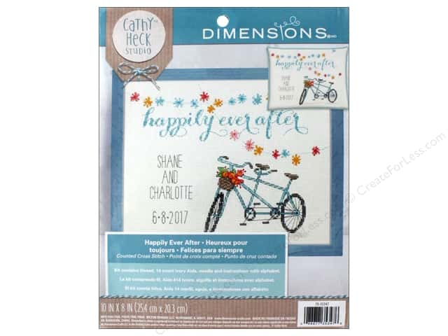 "Dimensions Cross Stitch Kit 10""x 8"" Happily Ever After"