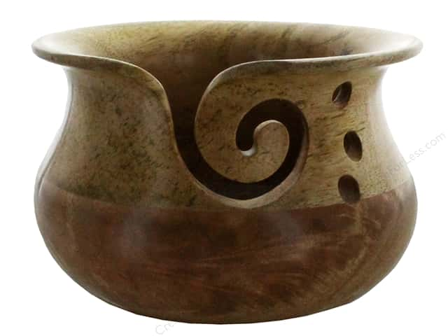 Susan Bates Wood Yarn Bowl