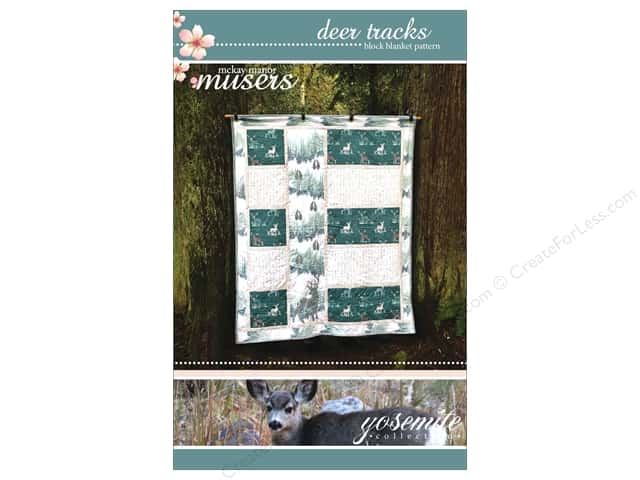 Mckay Manor Musers Deer Tracks Block Blanket Pattern