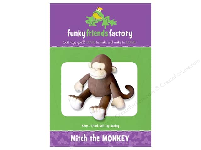Funky Friends Factory Mitch The Monkey Pattern