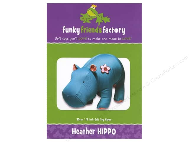 Funky Friends Factory Heather Hippo Pattern