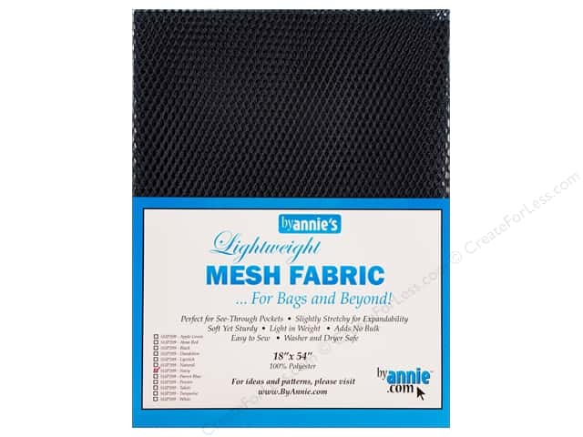 "By Annie Mesh Fabric Lightweight 18""x 54"" Navy"