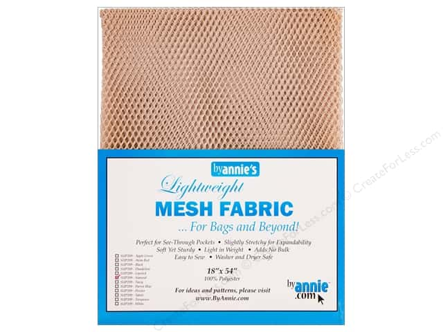 By Annie Lightweight Mesh Fabric 18 x 54 in. Natural