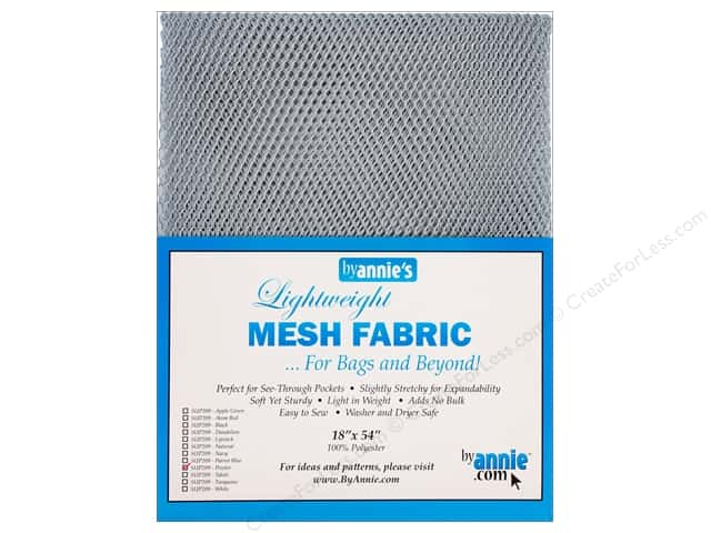 "By Annie Mesh Fabric Lightweight 18""x 54"" Pewter"