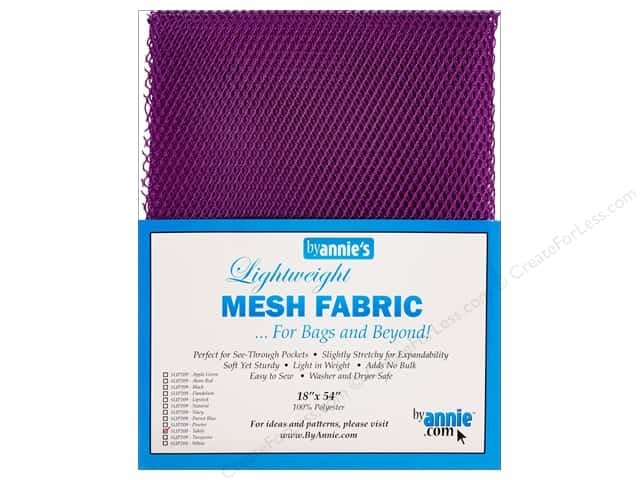By Annie Lightweight Mesh Fabric 18 x 54 in. Tahiti