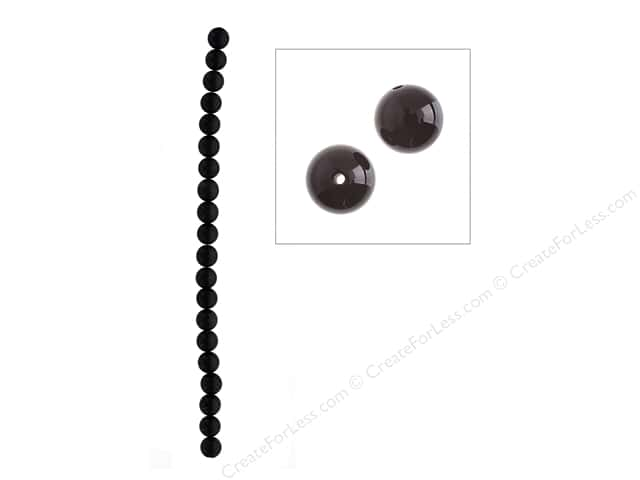 John Bead Semi-Precious 16 in. 10 mm Round Black Obsidian Natural