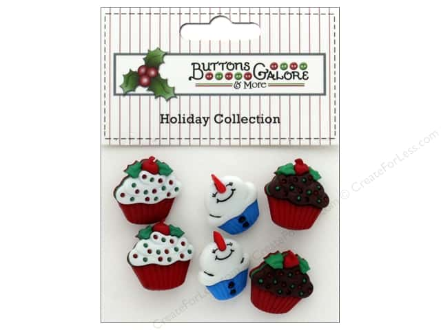 Buttons Galore Theme Button Holiday Jolly Treats