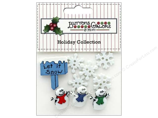 Buttons Galore Theme Button Holiday Let It Snow