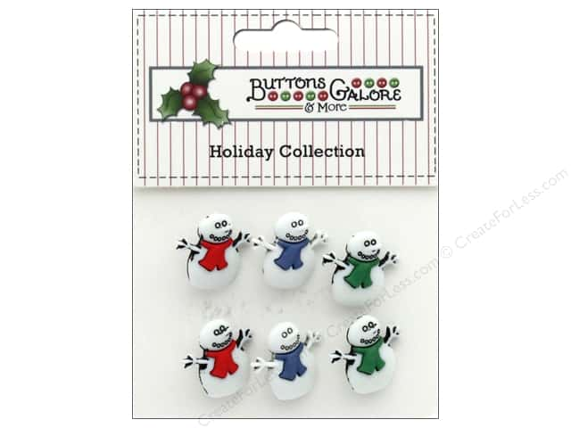 Buttons Galore Theme Button Holiday Snowmen
