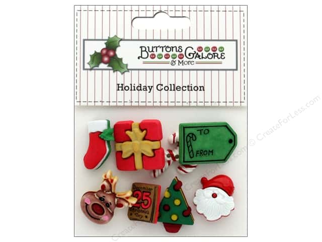 Buttons Galore Theme Button Holiday December 25
