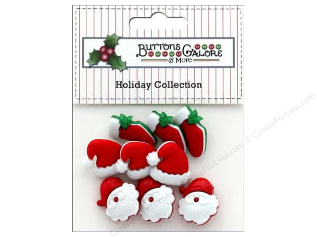 Buttons Galore Theme Button Holiday HO HO HO