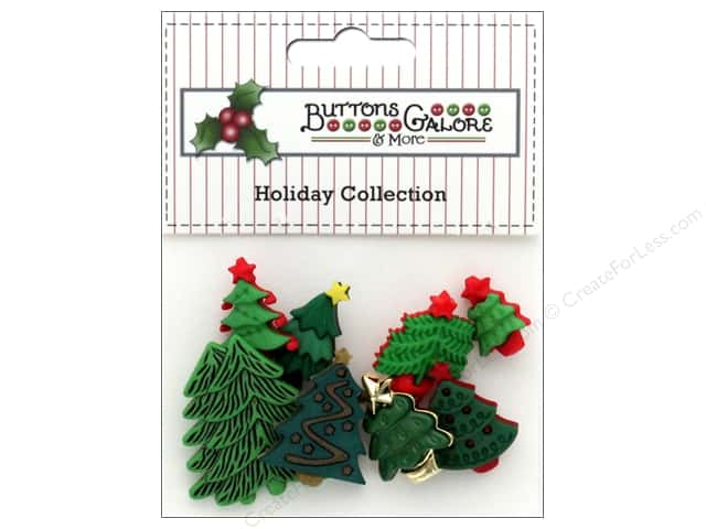 Buttons Galore Theme Button Holiday O'Tannenbaum
