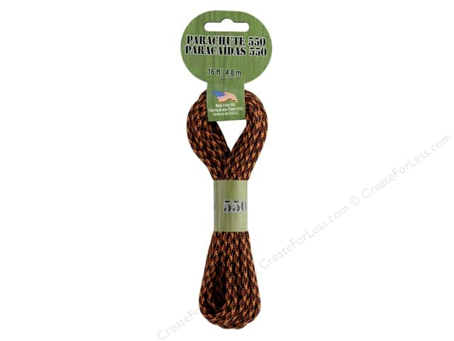 Pepperell Parachute Cord 550 Nylon 16ft Tiger