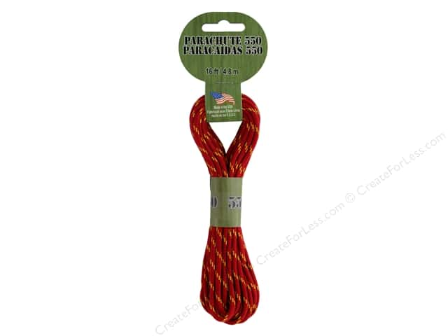 Pepperell Parachute Cord 550 Nylon 16ft Chicago Fire