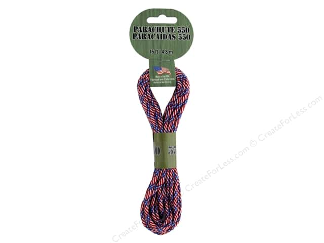 Pepperell Parachute Cord 550 Nylon 16ft Patriot