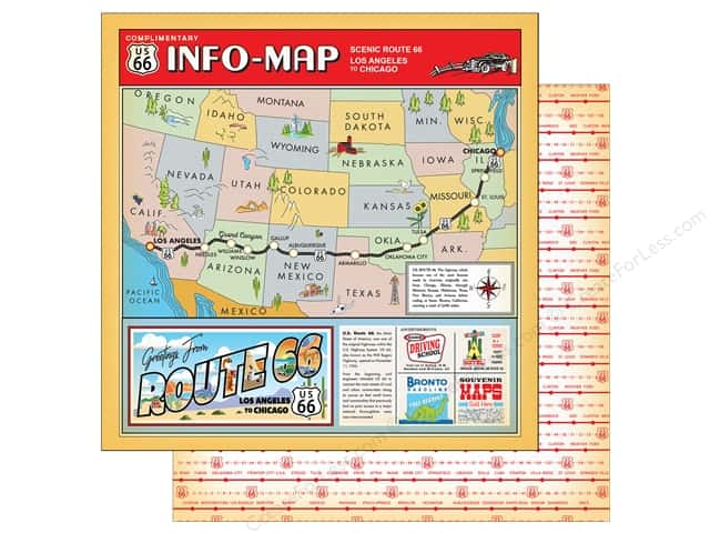 "Carta Bella Collection Cartopia Paper 12""x 12"" Scenic Route (25 pieces)"