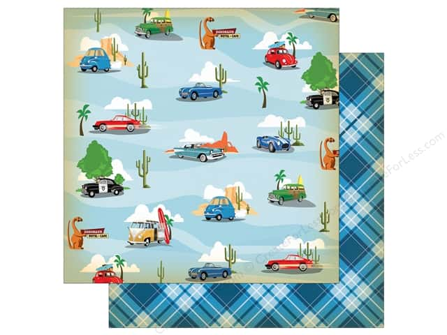 "Carta Bella Collection Cartopia Paper 12""x 12"" Pit Stop (25 pieces)"