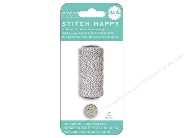 We R Memory Keepers Stitch Happy Baker's Twine Grey