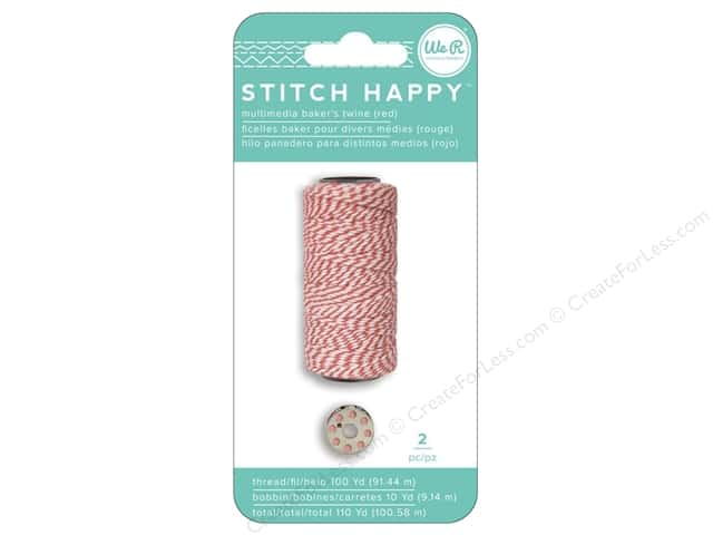 We R Memory Collection Stitch Happy Baker's Twine & Bobbin Red