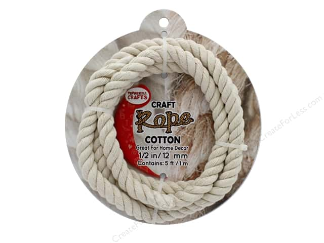 "Pepperell Craft Rope Cotton 1/2"" 5ft"
