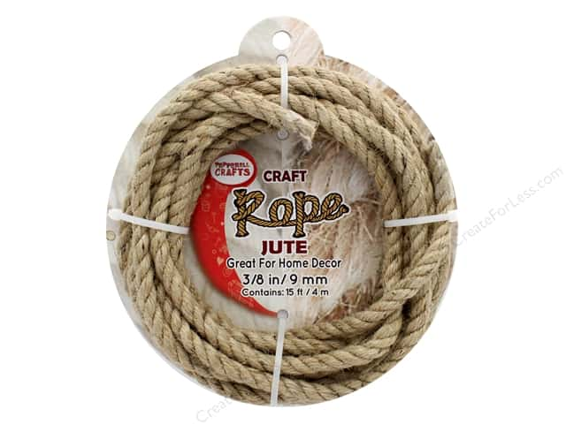 "Pepperell Craft Rope Jute 3/8"" 15ft"