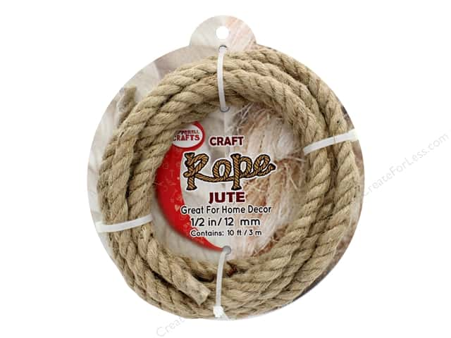 "Pepperell Craft Rope Jute 1/2"" 10ft"