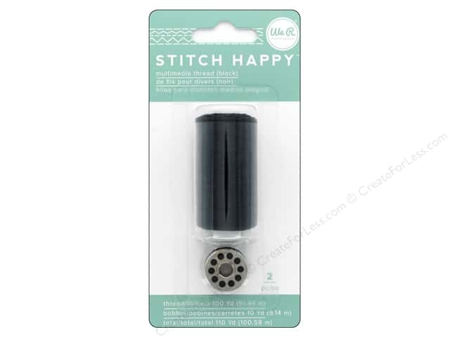We R Memory Keepers Stitch Happy Thread Black