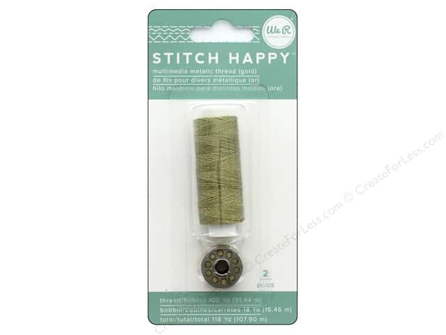 We R Memory Keepers Stitch Happy Thread Metallic Gold