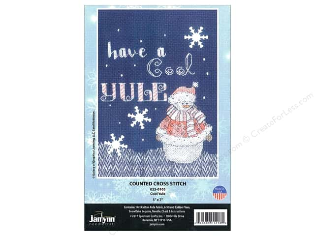 "Janlynn Cross Stitch Kit 5""x 7"" Cool Yule"