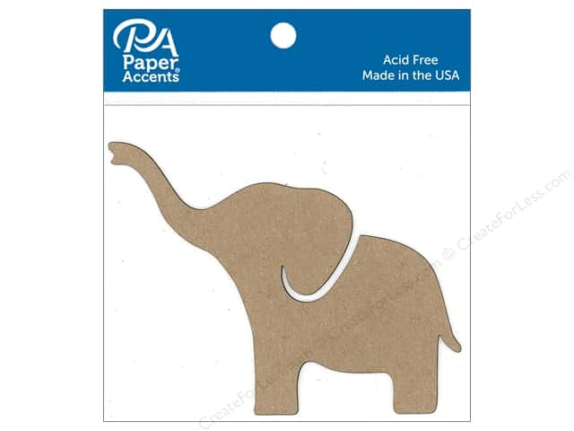 Paper Accents Chip Shape Elephant Natural 6pc