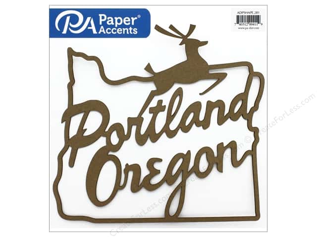 Paper Accents Chip Shape Portland Sign Natural 12""