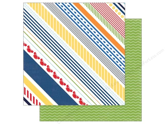 "Echo Park Collection Under The Sea Paper 12""x 12"" Crabby Stripe (25 pieces)"