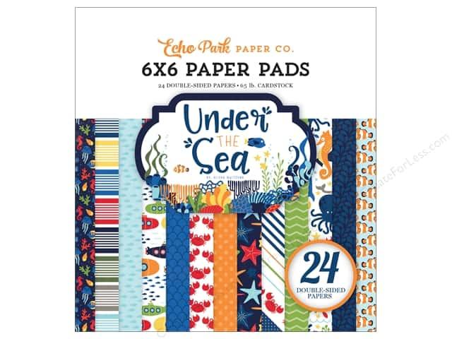 "Echo Park Collection Under The Sea Paper Pad 6""x 6"""