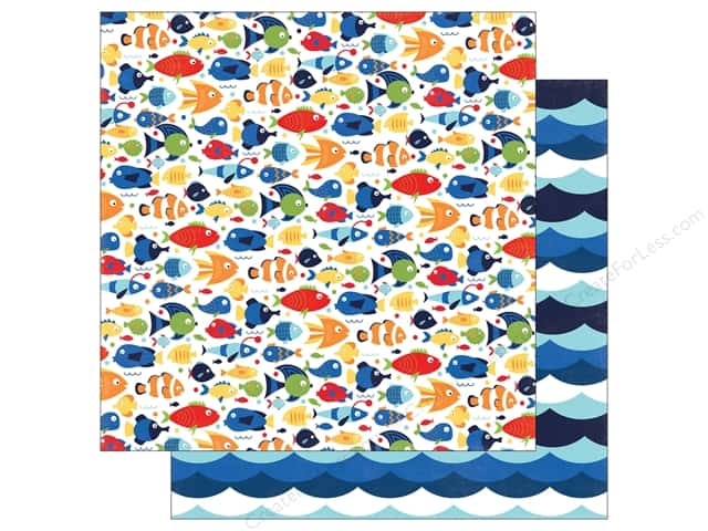 "Echo Park Collection Under The Sea Paper 12""x 12"" Aquatic Fun (25 pieces)"