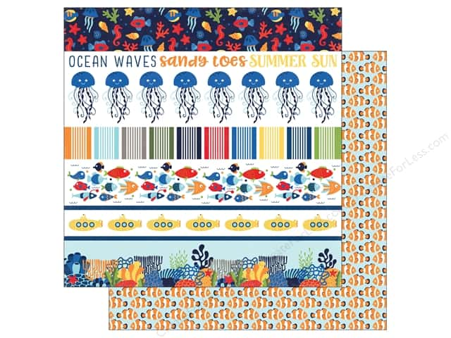 "Echo Park Collection Under The Sea Paper 12""x 12"" Border Strips (25 pieces)"