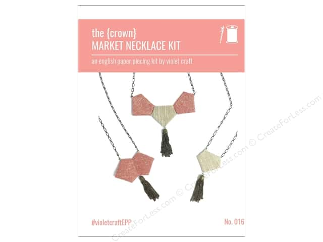 Violet Craft Notions Market Necklace Kit Crown