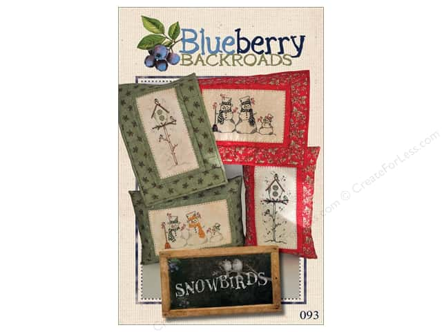 Blueberry Backroads Snowbirds Pattern