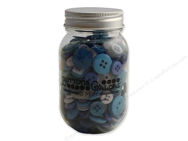 Buttons Galore Button Mason Jar Open Seas