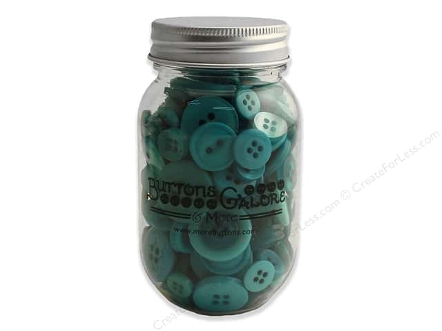 Buttons Galore Button Mason Jar Bali Blue