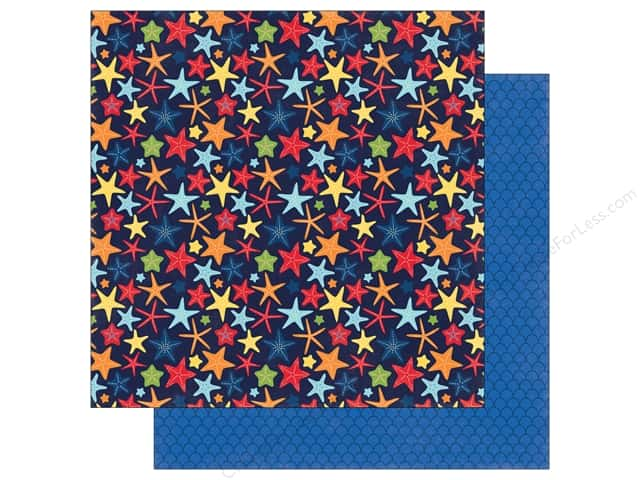 "Echo Park Collection Under The Sea Paper 12""x 12"" Happy Starfish (25 pieces)"
