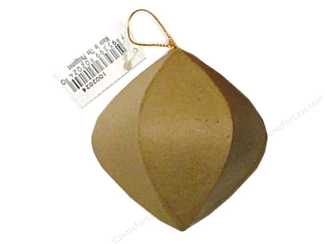 PA Paper Mache Point End Round Ornament 3 1/2 in.