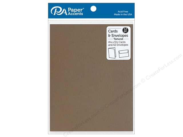 Paper Accents 4 1/4 x 5 1/2 in. Blank Card & Envelopes 12 pc. Textured Clove