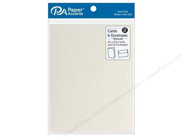 Paper Accents 4 1/4 x 5 1/2 in. Blank Card & Envelopes 12 pc. Textured French Vanilla