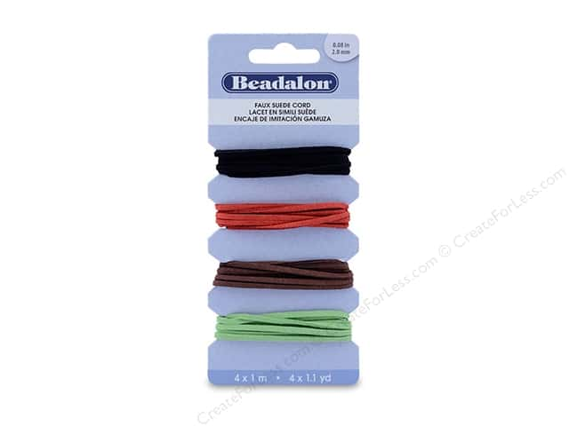 Beadalon Faux Suede Lace Cords Assorted 4 M