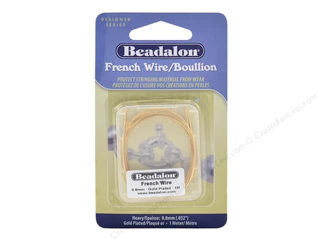 Beadalon French Wire Heavy .8 mm 1 M Gold Color