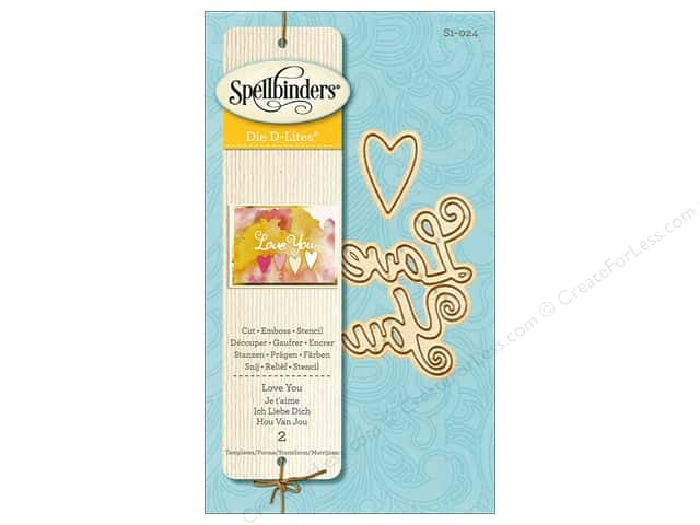 Spellbinders Die D Lites Love You